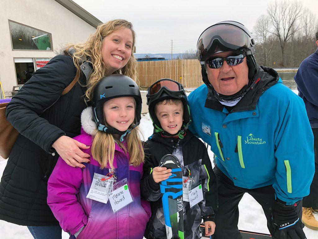 Ski lesson smiles